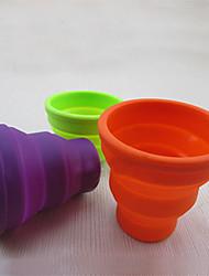 extérieur silicone rétractable tasse 200ml (couleur aléatoire)