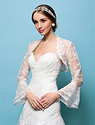 casamento envolve boleros laço branco / bege encolher de ombros bolero