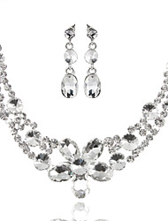 Alloy Wedding/Party Jewelry Set With Rhinestone