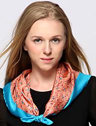 Zizhen soie foulard carré occasionnel des femmes