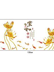 murales famille fleurs pvc style chinois autocollants