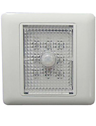 8 Luz 1W PC White LED Wall Light Sensor IP65 à prova d'água