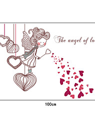 Love Angel Girl PVC Wall Stickers