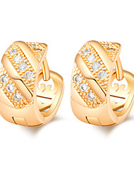 Women's Fashion 18K Gold Plating Inlay Zircon Earrings