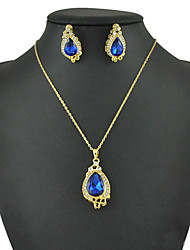 Women's European and American fashion major suit Earrings Necklace Set(1 set)8586-9