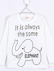 Boy's Fashion Cartoon Little Baby Elephant Tees