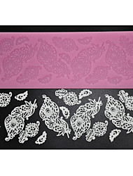 FOUR-C Decorating Supplies Silicone Baking Mat Sugar Lace Mold for Design,Silicone Mat Fondant Cake Tools Color Pink