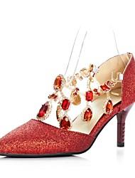 Stiletto - Glitter - FRAUEN Absätze/Spitze Zehe - Pumps / High Heels ( Blau/Rot )