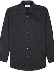 arrugas negro libre de satén camisas de vestir de los hombres