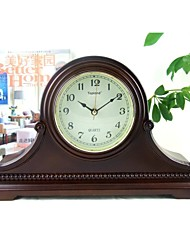 "Modern/Country/Mantel Clock/Wood Table Clock 16*3.125*9.625""/Brown Color/Westminster Chime/Hourly Strike/Seiko Movement"