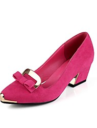Women's Shoes Pointed Toe Chunky Heel Suede Pumps Shoes More Colors available