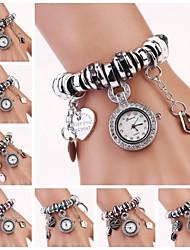 rondeur strass cadran Pendentif chaîne de montre-bracelet des femmes (couleurs assorties) c&D-172