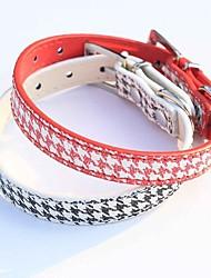 Rojo/Negro - Retractable/Cosplay - Metal/Cuero PU - Collar - Perros/Gatos -