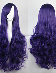 Cosplay Blue Ink Fashion Must-have Girl High Quality Long Curly Hair Wig
