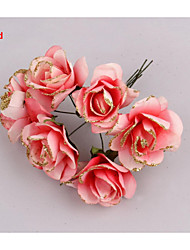 5CM/72PCS,Large Artificial Paper Fake Glitter Roses,Garland Flower,Diy Scrapbooking Accessories,Wedding Decorations