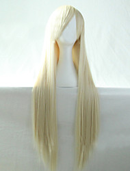 Cosplay Hot Models High-quality Synthetic Wig 80cm High Temperature Wire Straight Hair light Blonde Long Straight Hair