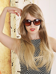 European and American Fashion Gradient Golden Brown Long Straight Hair Wig