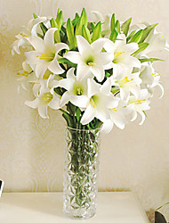 """39.4""""L 3 Heads High-quality Simulation Lily Flowers"""