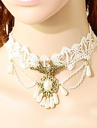 Bride Rich Atmosphere Pearl Quality  Lace Necklace