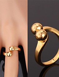 U7® Adjustable Cute Ring 18K Real Gold Plated Fancy Ring For Women Fashion Jewelry Unisex High Quality
