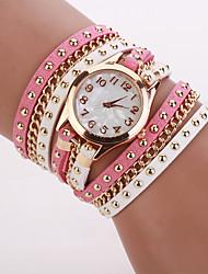 w&q moda círculo rebite relógio