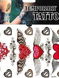 - Tattoo Aufkleber - Non Toxic/Muster/Unterer Rückenbereich - Andere - für Damen/Herren/Erwachsener/Teen - Mehrfarbig - Papier - 1 Stück -