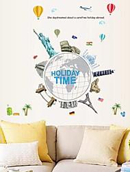 Stickers muraux stickers muraux vacances disposent de temps de PVC amovible lavable