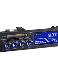 stw panel de controlador del ventilador lcd equipo lector de tarjetas 5,25 pulgadas multi-funcional para PC