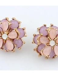 Masoo Women's Fashion Opal Flower Earrings