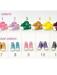 10 paires / chaussures beaucoup 3.5cm la mode en plastique de poupée accessoires pour poupées Blythe 1/6 BJD, 10 couleurs assorties