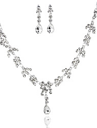 Graceful Ladies'/Women's Alloy Wedding/Party Jewelry Set With Rhinestone