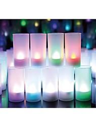 Wedding Décor Color-changing Voice Blow Sensitive Candle Design LED Night Light Home Party  Decoration