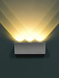 lampe de mur de LED trois lumières chaud acrylique en aluminium blanc 100 ~ entrée 240v