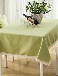 "Green Rectangular Table Cloth, Polyester 52""x70"", 55x95"""