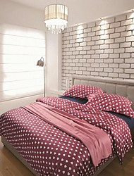 H&C ® High-End Long-Stampled  Cotton 100%  Duvet Cover Set 4 Pieces  Heart Shape Pattern Nordic Simple Style