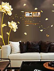 temps en or sticker mural PVC amovible de style de l'environnement