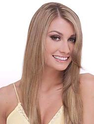 Peluca - para Mujer - Cabello natural - Marrón - Rectos