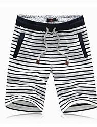Shorts ( Blau/Weiss , Baumwolle ) - für Freizeit - für MEN - Streifen
