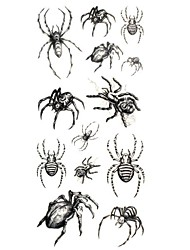 1pc Waterproof Temporary Tattoos Neck/Wrist/Arm/Finger Tattoos Glitter Spider Body Tattoos(18.5cm*8.5cm)
