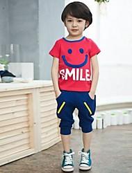 Boy's Cotton Clothing Set , Summer Short Sleeve