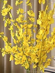1 Rama Seda Plástico Orquídea Flor de Mesa Flores Artificiales 94 5 5
