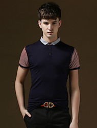 Men's Casual/Work/Formal/Sport/Plus Sizes Striped/Pure Short Sleeve Regular Polo (Cotton/Lycra)tennis shirt polo shirt