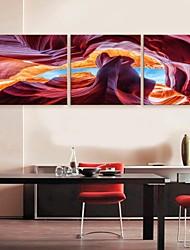 e-FOYER toile tendue Art Paysage peinture abstraite décoration ensemble de trois