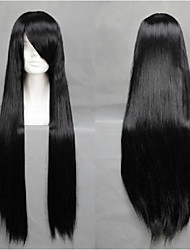 Angelaicos Womens Kyoukai No Kanata Nase Mitsuki Girls Black Long Straight Halloween Anime Costume Cosplay Wigs