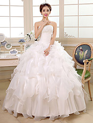 Ball Gown / Princess Wedding Dress Floor-length Strapless Organza with