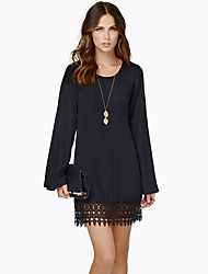 NJEWomen's Casual Long Sleeve Dresses (Chiffon)