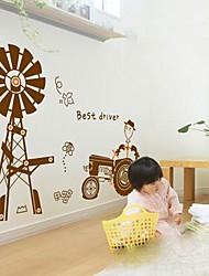 moda urbana moinho de vento e feliz adesivo de parede fazenda