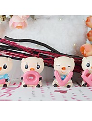 Wedding Décor Cute LOVE Pig Cake Topper-Set of 4pcs
