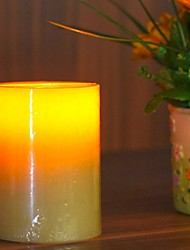Home Impressions™ 3x4 Inch Flameless Real Wax Pilliar Led Candle With Timer,Battery-Operated,Ivory