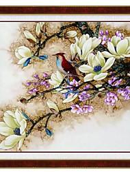 magnolia hermosa de punto de cruz